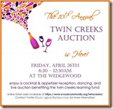 Twin Creeks Auction Invitation 2013