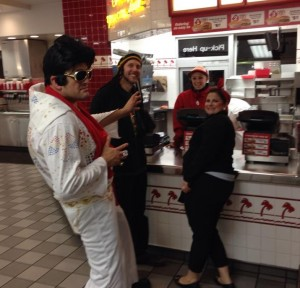 Elvis, Bob Marley and Rosie Riveter visit In n Out