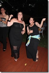 Lisa and Laura rock the air guitar