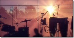 Sunrise behind the stage