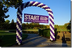 The starting line of the Walk