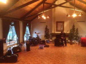 Setting up at the Sycamore Clubhouse