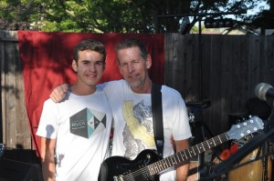 Jeff and his son/roadie-for-the-day Blake