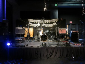 The stage all set up
