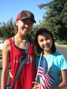 Sophie And Emily At The July 4th 2017 Parade